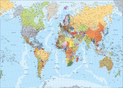 Spanish World Map