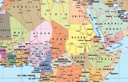 Spanish World map zoom