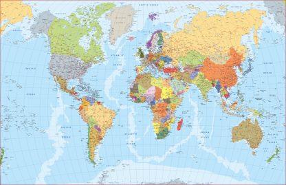 World map english